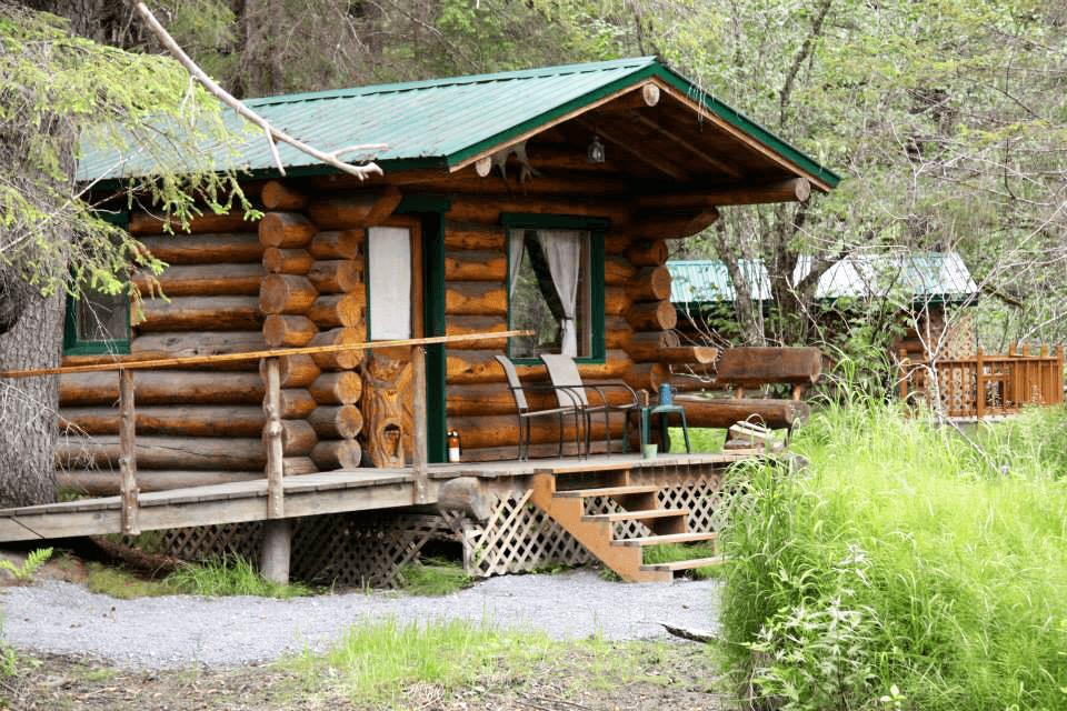 Burl Cabin at Alaska Creekside Cabins Alaska Vacation Destination near Seward, Alaska