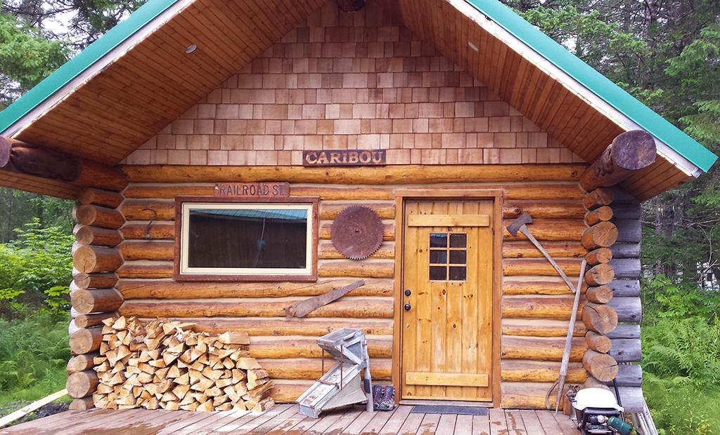 Caribou Cabin, a vacation cabin at Alaska Creekside Cabins in Seward, Alaska.