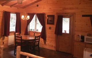 Inside Spring Cabin at Alaska Creekside Cabins Alaska Vacation Destination near Seward, Alaska