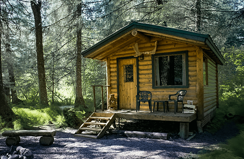 Spruce Cabin at Alaska Creekside Cabins in Seward, Alaska