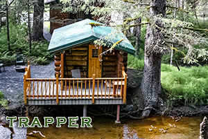 Trapper Cabin at Alaska Creekside Cabins in Seward Alaska, Real Alaskan Vacation Cabins
