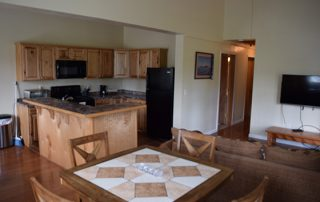 Inside Aviator Apartment at Alaska Creekside Cabins Alaska Vacation Destination near Seward, Alaska