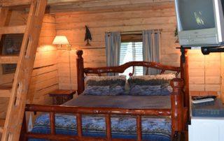 Inside Eagle's Nest Cabin at Alaska Creekside Cabins Alaska Vacation Destination near Seward, Alaska