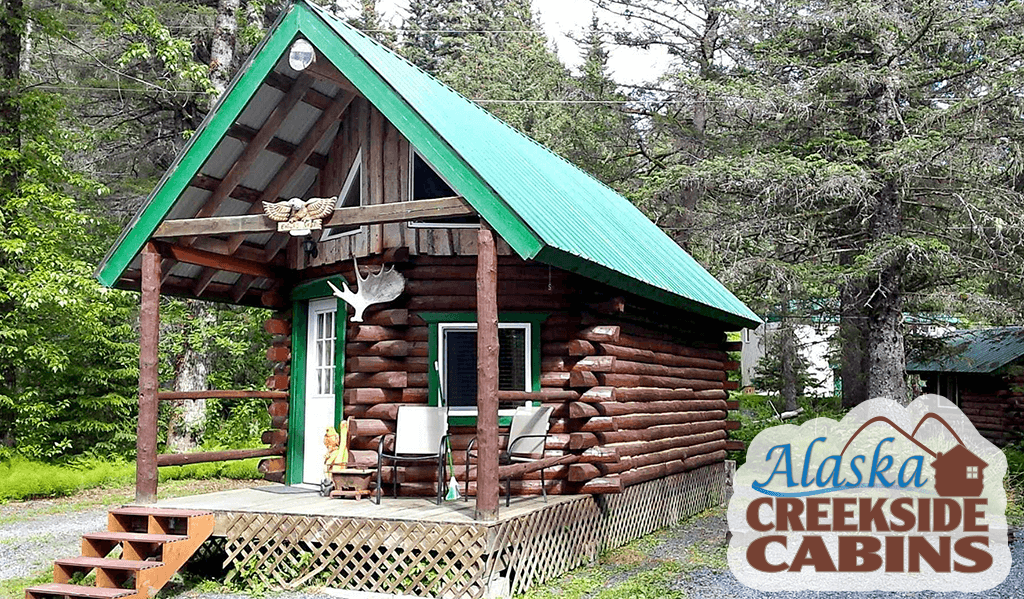 Office Cabin at Alaska Creekside Cabins in Seward Alaska, Real Alaskan Vacation Cabins
