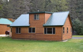 Original lodging at Alaska Creekside Cabins, Seward, Alaska