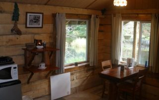 Inside Miner Cabin at Alaska Creekside Cabins Alaska Vacation Destination near Seward, Alaska
