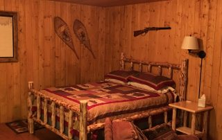 Inside Old West and Saloon Cabin at Alaska Creekside Cabins Alaska Vacation Destination near Seward, Alaska