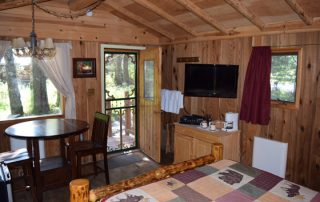 Inside Spruce Cabin at Alaska Creekside Cabins Alaska Vacation Destination near Seward, Alaska