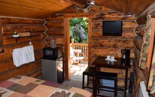 Inside Trapper Cabin at Alaska Creekside Cabins Alaska Vacation Destination near Seward, Alaska