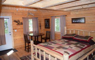 Inside Yukon Cabin at Alaska Creekside Cabins Alaska Vacation Destination near Seward, Alaska